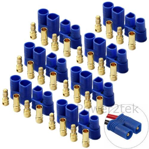 7-PAIRE accumuler EC2 Mâle /& Femelle Connecteurs Fiches Prises pour RC Lipo Batterie UK