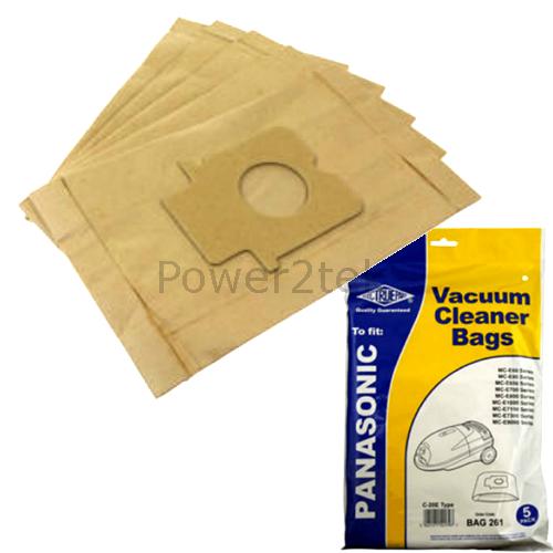 5 X C 20e Dust Bags For Panasonic Mc E7001 Mc E7002 Mc