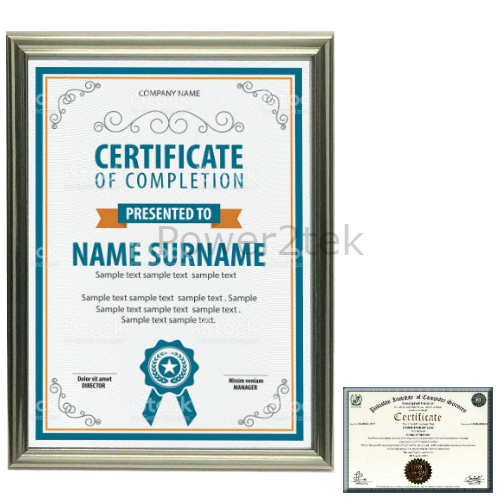 Picture Photo Frame A4 Certificate Award Poster Silver Effect New UK