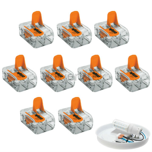 2 Way Elec Connectors Wire Block Terminal Cable 240V similar to Wago 221-412