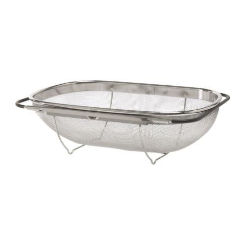 Image Is Loading IKEA IDEALISK Adjustable Over Sink Stainless Steel Colander